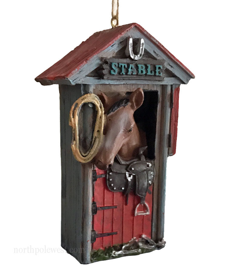 Horse Ornament- Horse in Stable