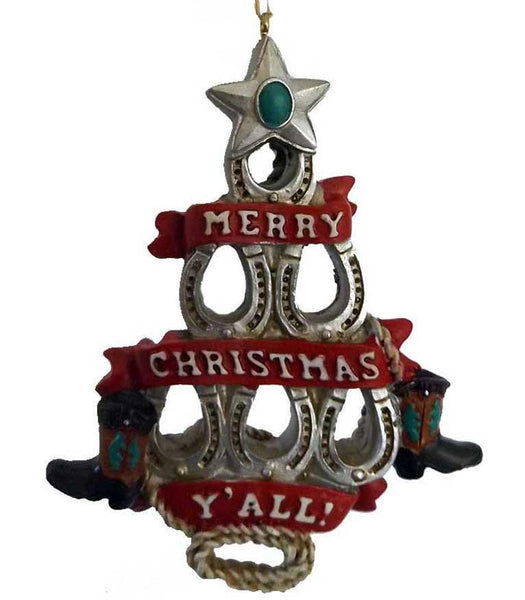 Horseshoe Christmas Tree Ornament - North Pole West Cowboy Christmas Store - 1