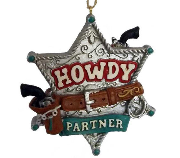 Howdy Pardner Marshall Star - North Pole West Cowboy Christmas Store - 1