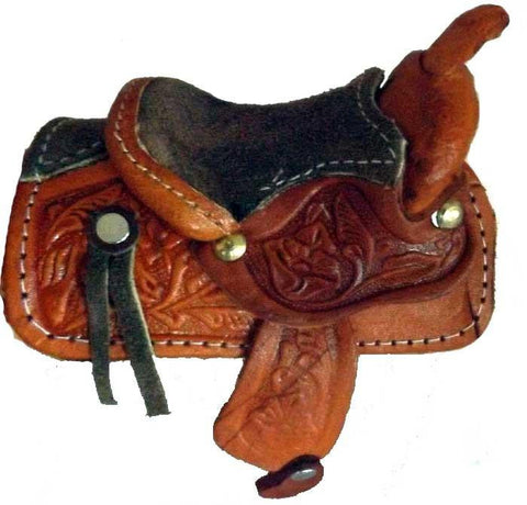 Handmade large size leather saddle cowboy Christmas decoration