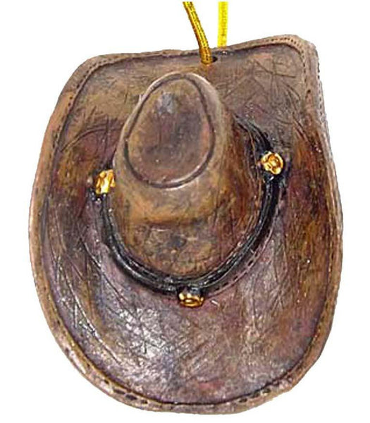 Cowboy Hat Ornament Decoration Old West - North Pole West Cowboy Christmas