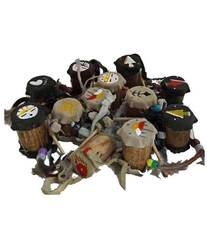 Mini  Native American Drum Ornaments - North Pole West Cowboy Christmas