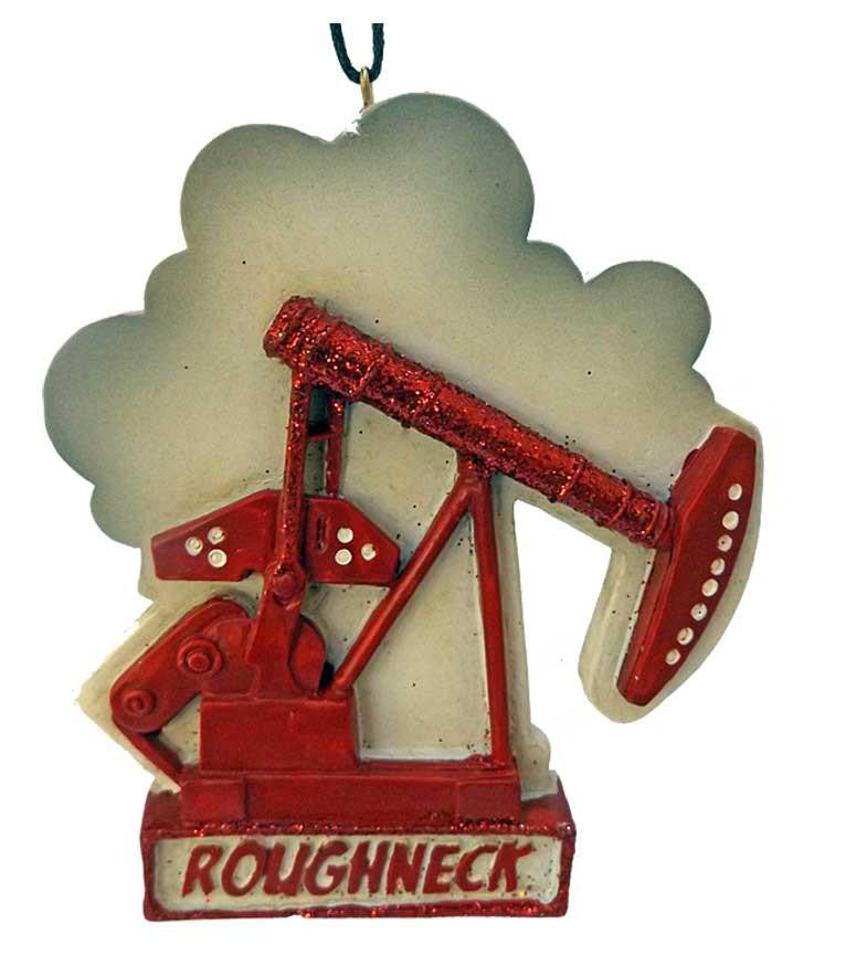 Oil Well Pumpjack Ornament - North Pole West Cowboy Christmas