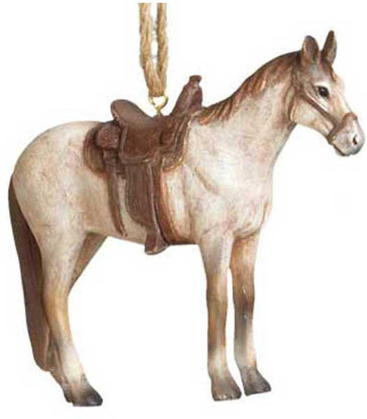 Rodeo Saddle Horse Ornament - Handome - North Pole West Cowboy Christmas Store