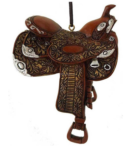 Western Cowboy Dandy Saddle Ornament - Style1 - North Pole West Cowboy Christmas Store - 1
