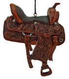 Western Cowboy Dandy Saddle Ornament- Style 2 - North Pole West Cowboy Christmas Store - 1