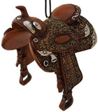 Western Cowboy Dandy Saddle Ornament - Style1 - North Pole West Cowboy Christmas Store - 2