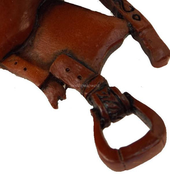 Western Cowboy Dandy Saddle Ornament - Style1 - North Pole West Cowboy Christmas Store - 3