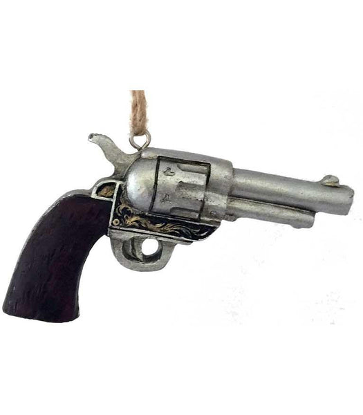 old west six-gun cowboy Christmas ornament decoration