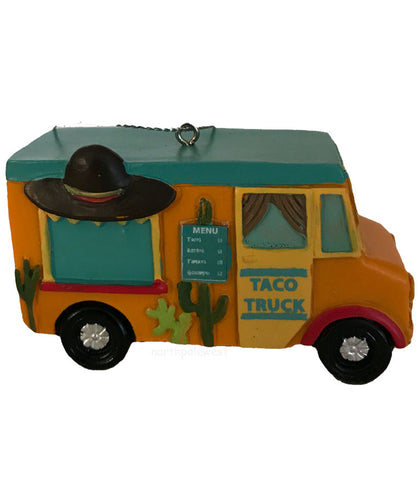 southwestern taco food truck Christmas ornament from North Pole West