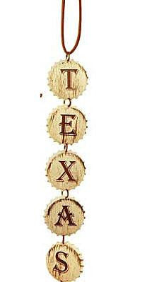 Texas Bottle Cap Dangle Decoration