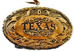 Texas Gold Buckle Ornament