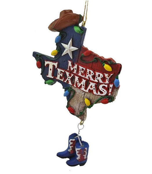 Texas with Cowboy Hat & Boots Ornament