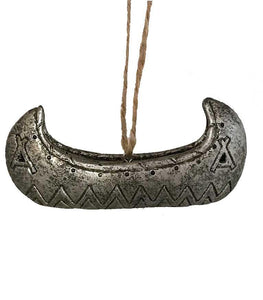 Native American Style Ornament - Canoe