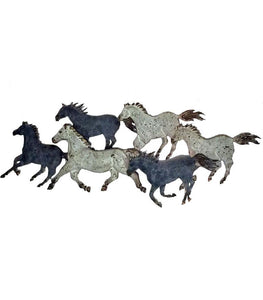 Western Wall Art - A Herd of Wild Horses