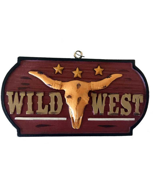 Colorful longhorn skull wild west ornament - great for the cowboy Christmas tree or in western decor projects.  Fun cake topper too.