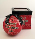 Merry Christmas Ya'll country western ornament with gift box