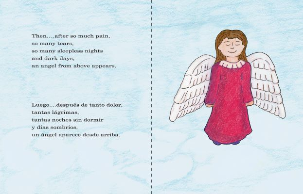 An Angel from Above - Un ángel desde arriba Bilingual Children's Book preview page