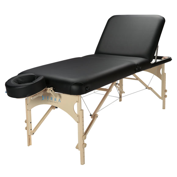 Deluxe Adjustable Backrest Portable Massage Table, SC-DLX100FB