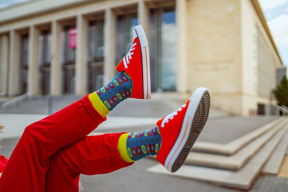 Ponožky SocksInBox Folklor na blogerce ze Stylemon Fashion Blog