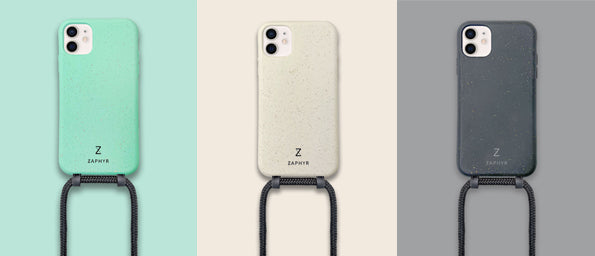ZAPHYR biodegradable crossbody phone cases, 3 colors