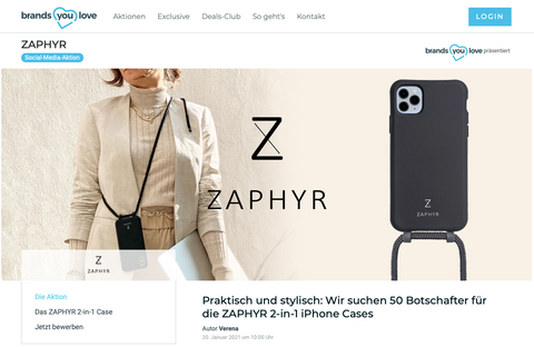 Zaphyr bei brands you love