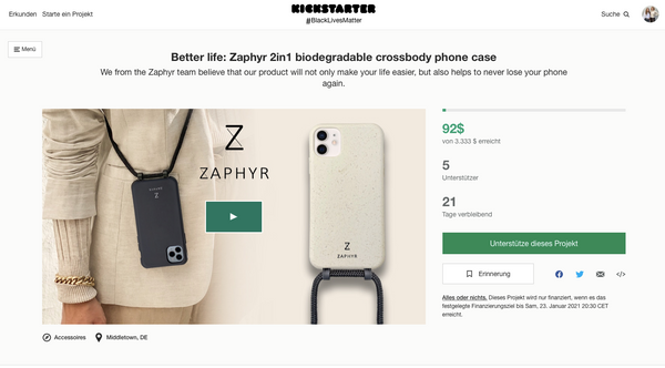 Zaphyr live on Kickstarter, support Zaphyr, Crowdfunding
