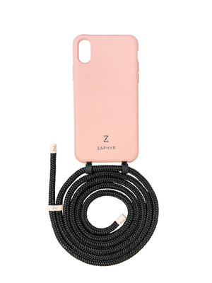 Zaphyr Case with detachable strap , phone chain, Ava blush