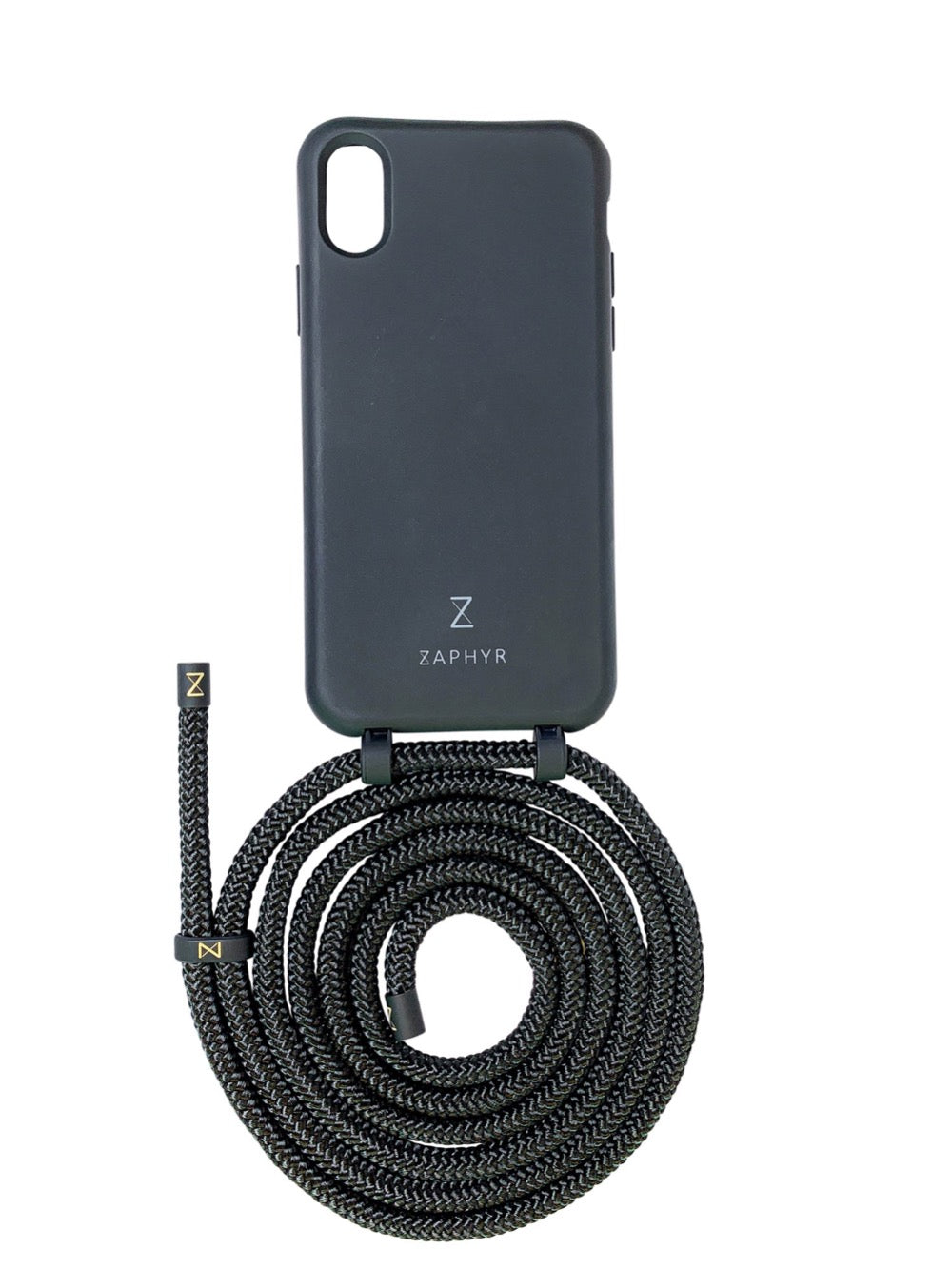 Zaphyr phone chain in black