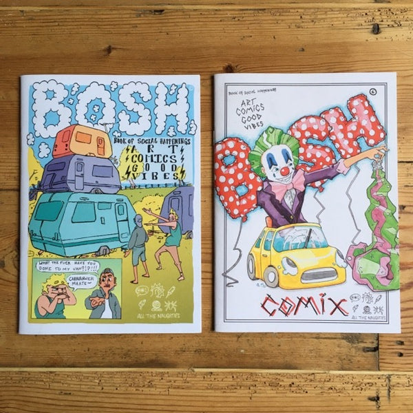 Bosh issues #1 & #2 - illustration comics - Zine
