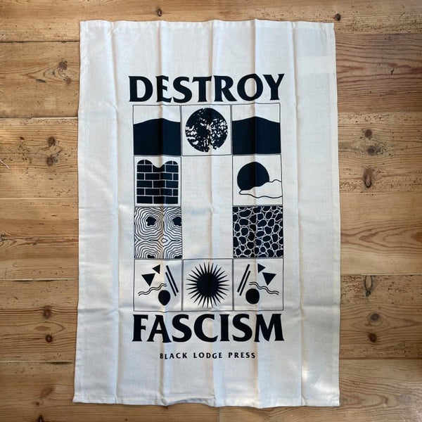 Destroy Fascism - tea towel