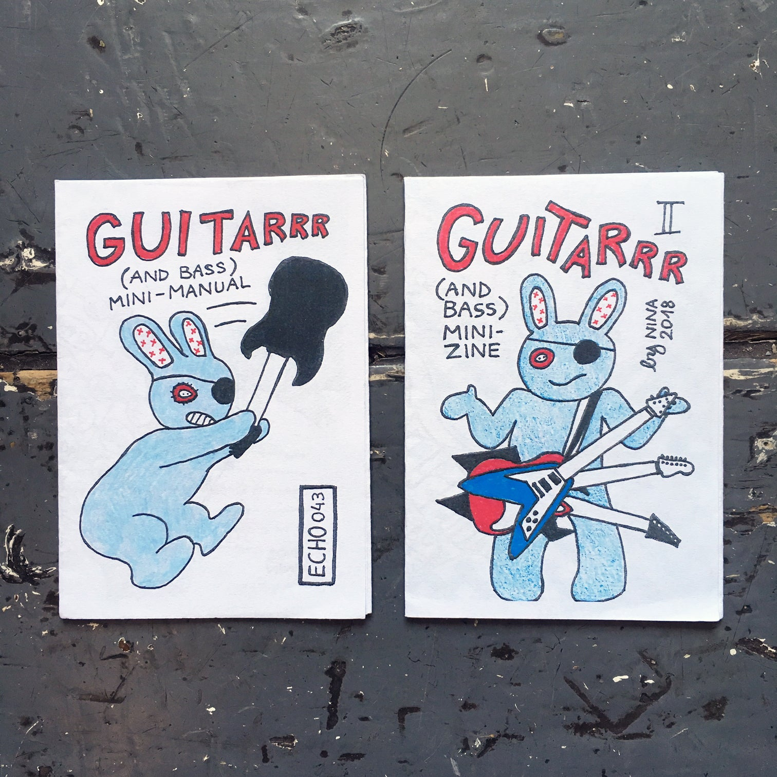 Guitarrrr (And Bass) Mini-Zines I & II - Zine