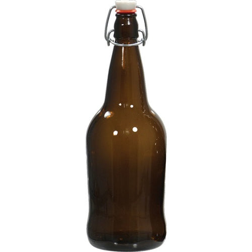 EZ Cap Bottles - 32 oz Amber Swing Top (Qty 12)