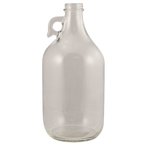 Glass Bottles - 1/2 Gallon Flint Jug with Handle - Qty 6 - Pallet of 54 Cases