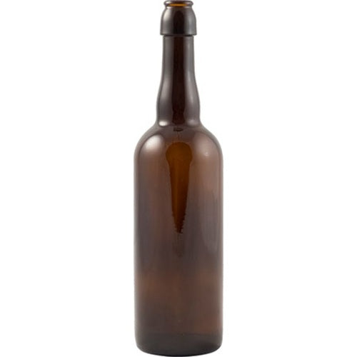 Beer Bottles - 750mL Amber 2-Way Bottle (Cap or Swing Top) - Case of 12