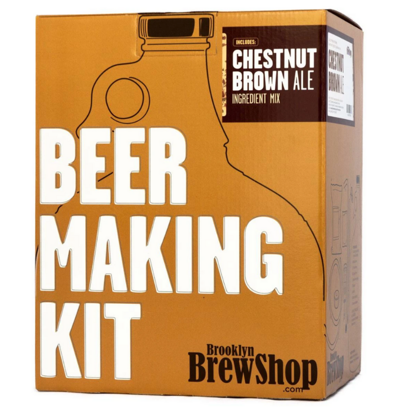 CHESTNUT BROWN ALE Beer Making Kit white background