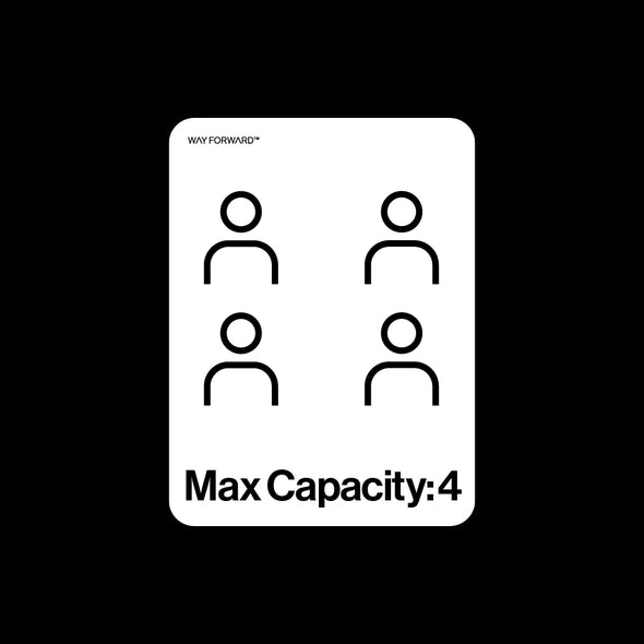 Bathroom Max Capacity Four