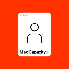 Bathroom Max Capacity One