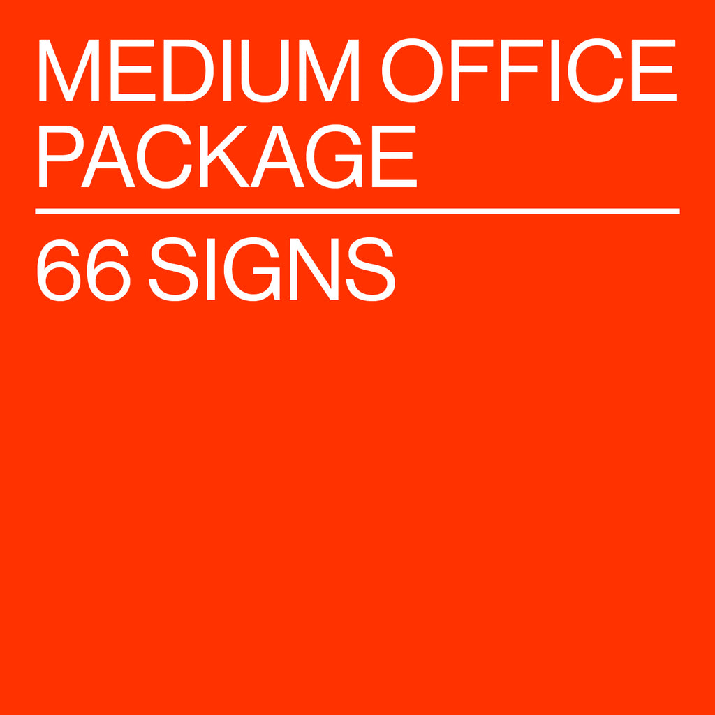 Medium Office Package - 66 Signs
