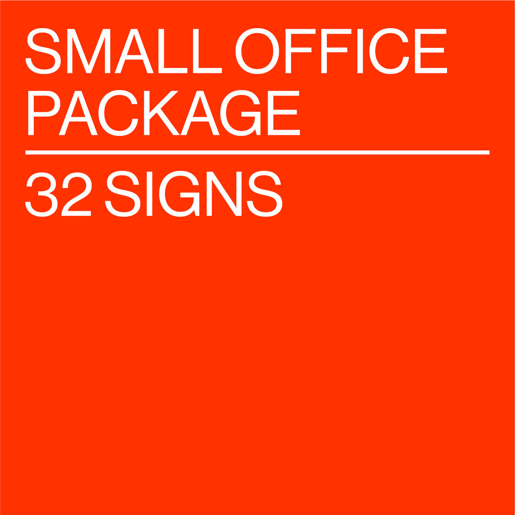Small Office Package - 32 Signs