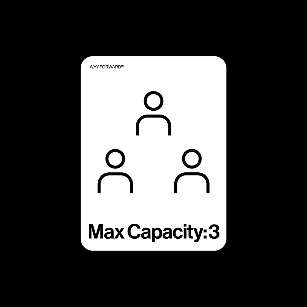 Bathroom Max Capacity Three