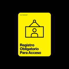 Double Sided Sign In Required (Spanish)