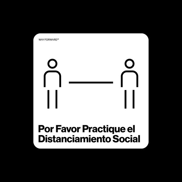 Please Social Distance (Spanish)