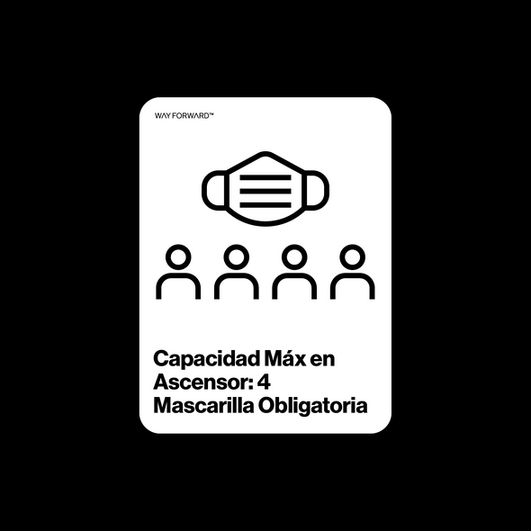 Maximum Elevator Capacity Four (Spanish)