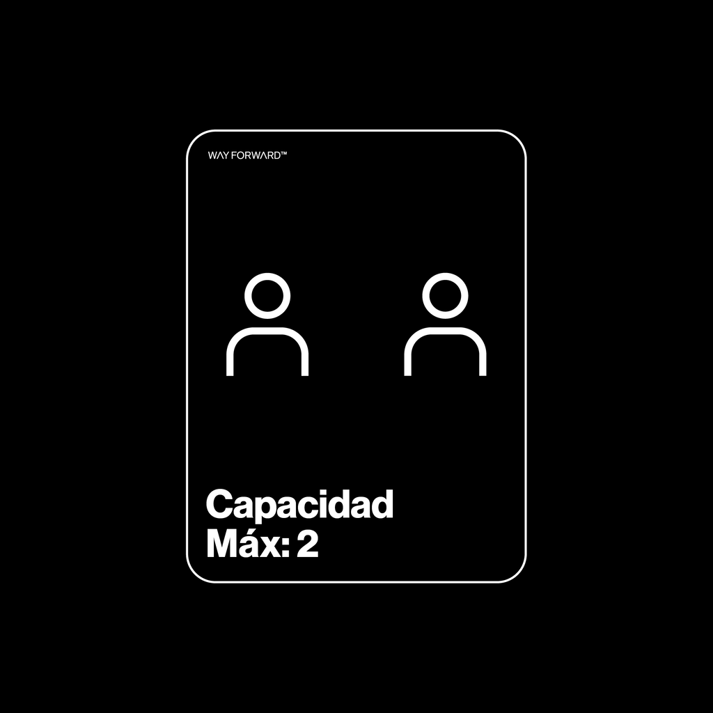 Bathroom Max Capacity Two (Spanish)
