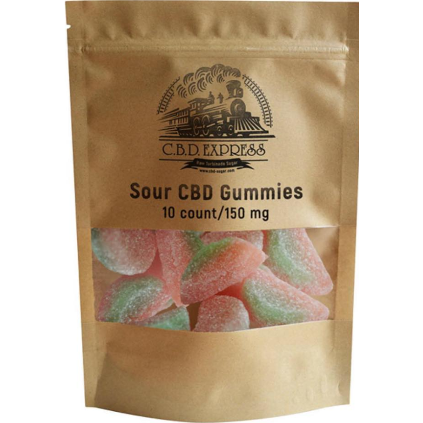10 Pack Sour Watermelon Gummies (Vegan)