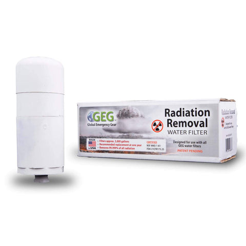 Radiation Removal Water Filter Kit for use with Wise Food Buckets