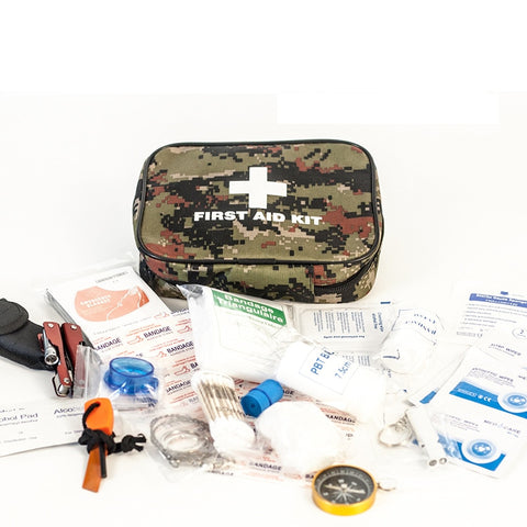 82 Pcs Emergency Survival Kit for Camping Hiking Climbing