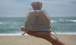 Nantucket Candle, Grey Lady Candle Company, Nantucket Beach Bag, waves sunshine.