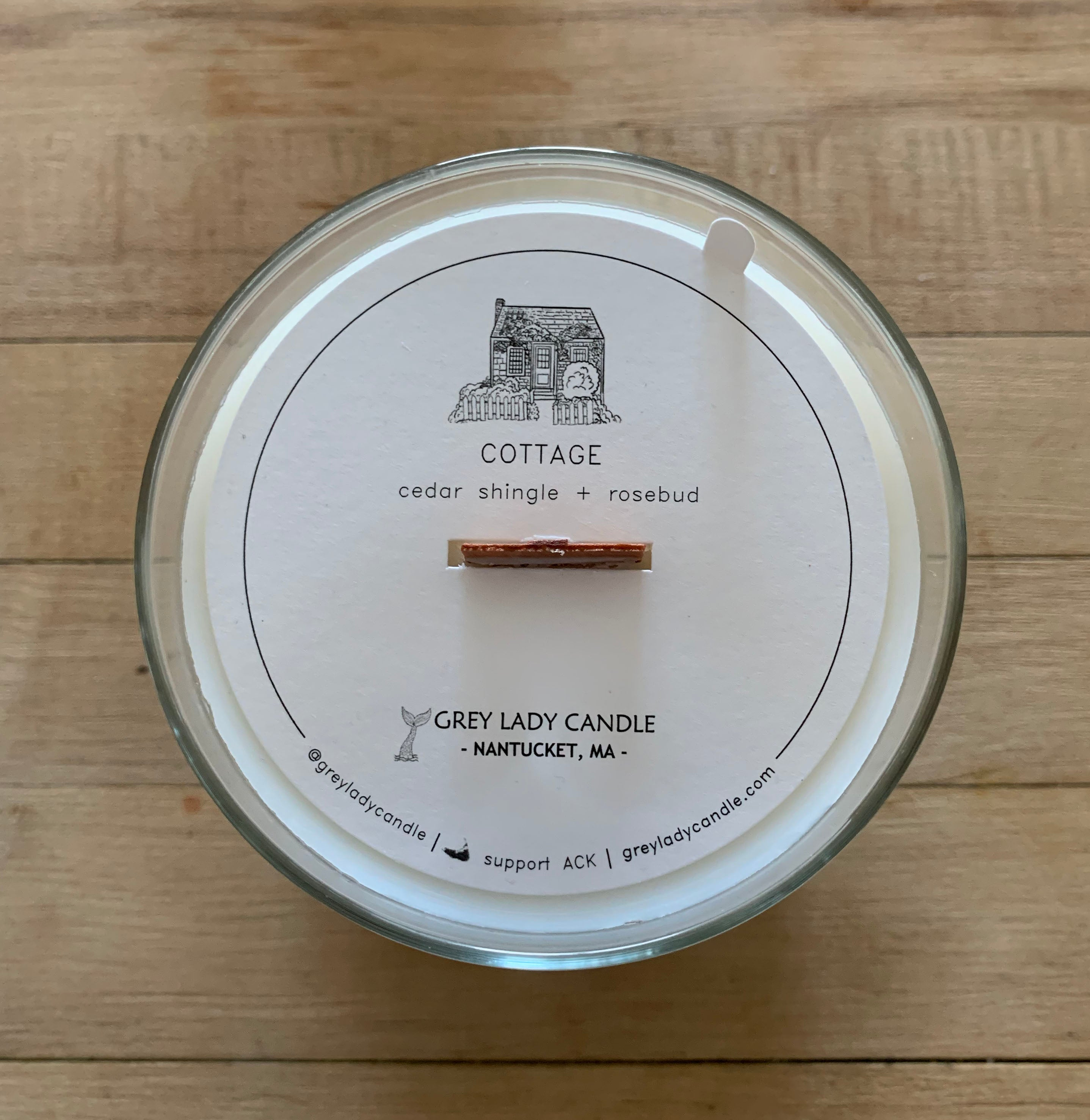 Cottage Topper - Nantucket MA, Grey Lady Candle